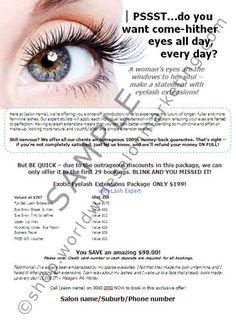 cbb76055f1d A4 Poster: Eyelash Extensions Introductory Offer Eyelash Conditioner, Salon  Marketing, Longer Eyelashes,