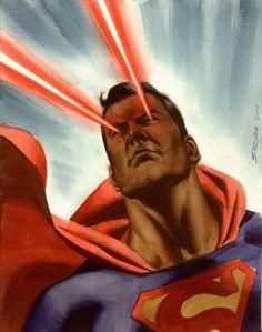 Superman Heat Vision Steve Rude Comic Art