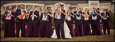 Super hero groomsmen photo idea. :)