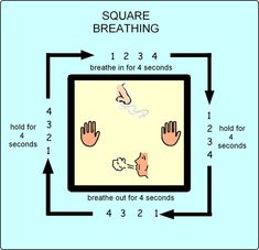I've been practicing square breathing for a few years. Super helpful!