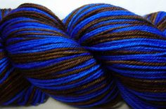 "Yes, this is yarn, but the name of the colorway is ""Tenth Doctor."" I must get some very soon!"
