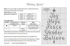 Holiday Spirit cross stitch freebie