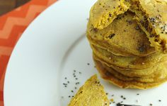 Sweet Potato Chia Seed Pancakes are rich in superfoods. #recipes #cleaneating