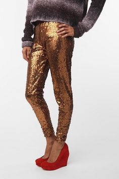 I did it. Silence & Noise sequin leggings, $15 from Urban Outfitters.