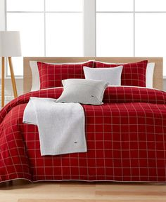 Lacoste Home Leste Red Twin/Twin XL Comforter Set