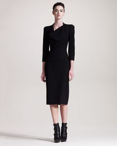 Cowl-Neck Dress by Alexander McQueen at Neiman Marcus.