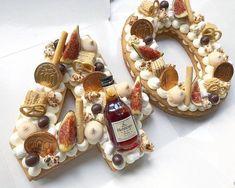 Cake Designs For Kids, Cookie Cake Designs, Number Birthday Cakes, Number Cakes, 50th Birthday Party Ideas For Men, Biscuit Decoration, Shapes Biscuits, Biscuit Cake, Cakes For Men