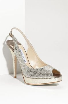 Jimmy Choo 'Clue' Glitter Slingback Pump:  this is a glorious shoe!