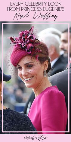 Princess Eugenie's royal wedding was star-studded! Click ahead to seeh what all the celebrity guests wore.