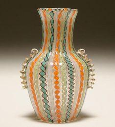 Murano latticino vase, probably Fratelli Toso