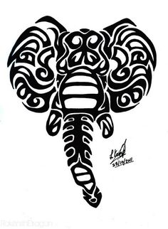 Tribal Elephant Tattoo Designs Tribal Elephant Tattoo On Ankle Tattoes . Elephant Tribal Tattoo, Tribal Animal Tattoos, Elephant Family Tattoo, Tribal Henna, African Tribal Tattoos, Henna Elephant, Tribal Drawings, Tribal Animals, Elephant Tattoo Design