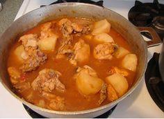 Receta de Pollo con caldo de papas [caption id=