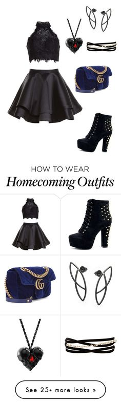 """№ 165"" by sandra20020904 on Polyvore featuring Alyce Paris, Gucci and Kenneth Jay Lane"
