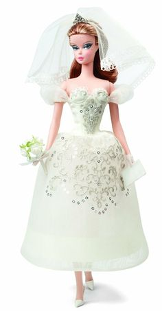 Buy Barbie Principessa - Robert Best Milan Wedding Doll at Mighty Ape NZ. Inspired by the rich, evocative fashion of Milans runways, Barbie Design Director Robert Best captures the aesthetic of this fashion capital with desi. Barbie Bridal, Barbie Wedding Dress, Wedding Doll, Bridal Dresses, Wedding Gowns, Ivory Wedding, Chic Chic, Mattel Barbie, Ri Happy
