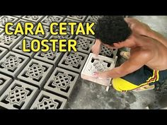 YouTube Concrete Furniture, Concrete Design, Concrete Blocks, Stone Flooring, Brick Wall, Projects To Try, How To Plan, Youtube, Diy