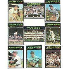 1971 Vintage Different YANKEES Topps 18 card lot Rookie Stars Peterson White Listing in the 1970-1979,Lots,MLB,Baseball,Sports Cards,Sport Memorabilia & Cards Category on eBid United States | 147697278