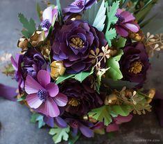 Arranging a Paper Floral Bouquet (Video)
