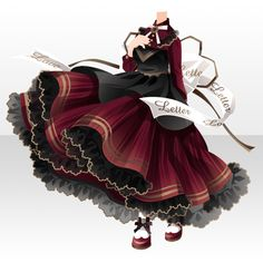 Model Outfits, Girl Outfits, Fashion Outfits, Pretty Outfits, Cute Outfits, Rococo Dress, Cocoppa Play, Cosplay Dress, Anime Costumes