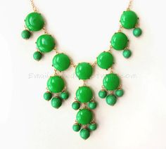 Emerald Green Bubble Statement by himediy, $16.00