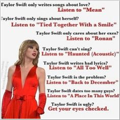 Beautiful lyrics from a beautiful person. I know she may have a lot of songs about break-ups but there are girls who need to know that other people(even if it's just a singer) know how they feel Taylor Swift Fan Club, All About Taylor Swift, Taylor Swift Facts, Long Live Taylor Swift, Taylor Swift Quotes, Taylor Alison Swift, Katy Perry, Bae, Swift 3
