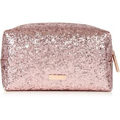 Rose Gold Dita Make Up Bag ($15) ❤ liked on Polyvore featuring beauty products, beauty accessories, bags & cases, bags, make up bag, makeup bag case, dop kit, wash bag and make up purse