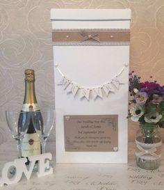 WEDDING CARD POST BOX PERSONALISED CERAMIC MR & MRS BUNTING SHABBY HESSIAN in Home, Furniture & DIY, Wedding Supplies, Other Wedding Supplies | eBay!