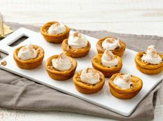 Cub & I plan to make these!!!! yum yum yum....... Impossibly Easy Mini Pumpkin Pies