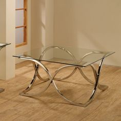 Coaster Furniture Glass Top Coffee Table - Chrome - 701918