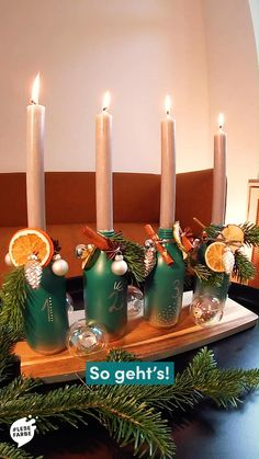 Christmas Centerpieces, Xmas Decorations, Xmas Crafts, Flower Crafts, Food Videos, Candles, Make It Yourself, Creative, Georgia