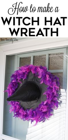 How to make a witch hat wreath! Easy and inexpensive!