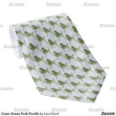 Shop Chartreuse Green Posh Poodle Neck Tie created by LeonOziel. Custom Ties, Unique Image, Business Supplies, Poodle, Floral Tie, Night Out, Camo, Green, Pattern