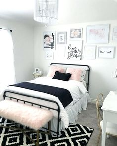 Beautiful Girls Bedroom Ideas for Small Rooms (Teenage Bedroom Ideas For Girls) Girls Bedroom, Bedroom Ideas For Teen Girls, Teenage Girl Bedrooms, Woman Bedroom, Small Room Bedroom, Bedroom Bed, Trendy Bedroom, White Bedroom, Bedroom Colors