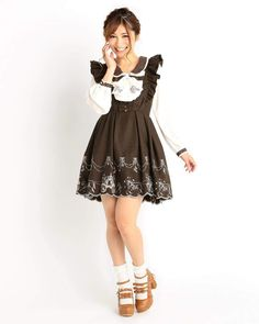 picture of LIZ LISA Horse-Drawn Carriage Pinafore Dress 1