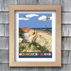 PRINT  Virginia Beach VA Mid Atlantic by betsybarnesDESIGNS