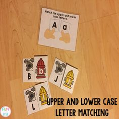 Capital & Lowercase Match (from Fun in ECSE)