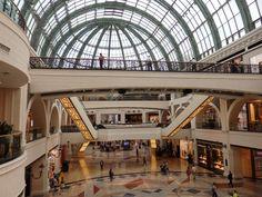 Half of the main atrium of the Mall of the Emirates in Dubai