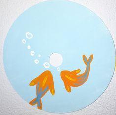 Cd Wall Art, Cd Artwork, Small Canvas Art, Diy Canvas Art, Vinyl Record Art, Vinyl Art, Sharpie Drawings, Art Drawings, Art Painting Images