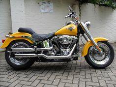 Harley Davidson Fatboy 2011 Yellow Chrome | Flickr - Photo Sharing!