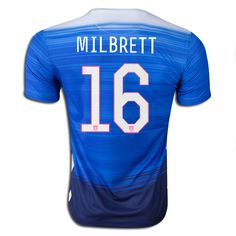 2015 FIFA Women's World Cup USA Tiffeny Milbrett 16 Mens Away Soccer Jersey