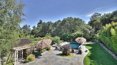 Incredible Los Gatos backyard with pool and flagstone patio