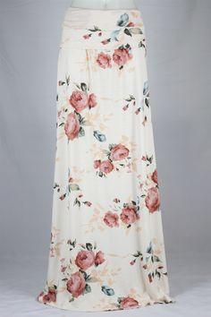 Vintage Roses Long Knit Skirt, Sizes 4-12: theskirtoutlet.com