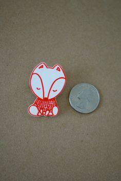 Pull Fox rétractable broche en plastique par OtterTotter sur Etsy