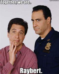 Ray Ramano and Brad Garrett star as brothers Ray & Robert Barone-Everybody Loves Raymond