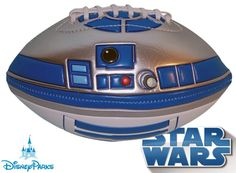 R2-D2 Football - pretty cool, although someone nerdy enough to have a star wars football probably isn't very good at football.