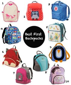 Best First Backpacks for Toddlers, Preschoolers & Little Kids Back to School 2013 | Apartment Therapy