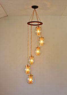 Design DIY Crystal Clear Glass Ball Ceiling Lamp Pendant Light ...