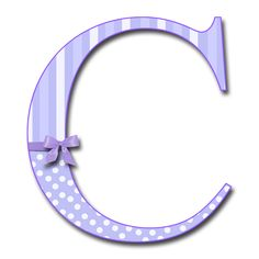 "Purple Letter C | Purple Fluff with Bows"" PNG Free Scrapbook Alphabet"