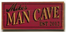 Personalized Man Cave Planked Sign 3 or Design Your Own Sign