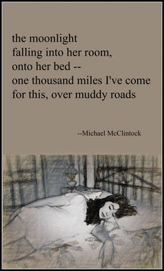 Tanka poem: the moonlight -- by Michael McClintock.