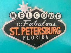 Petersburg sign is a beauty perfect for your bar room! Or use it to bring some Vegas fun into any room! Vegas Fun, Petersburg Florida, Originals, Hand Painted, Bar, Signs, Room, Beauty, Beleza
